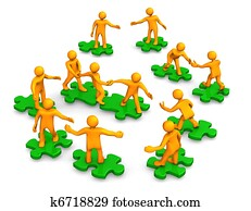 Teamwork Business Company Green Puzzle