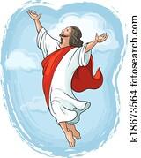 aufsteigen, von, jesus christus