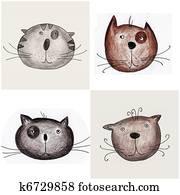 Cats - Handmade illustration