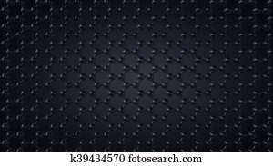 Composing hexagonal graphene molecular structure, 3d rendering
