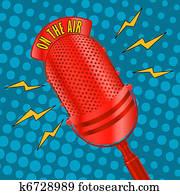 Pop art microphone