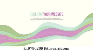 Abstract header website design style