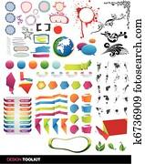 Designer's toolkit vector elements