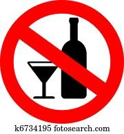 Vector no alcohol sign
