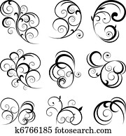decorative scroll shapes