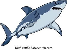 Due gran squalo bianco in il water sketch nero for Disegno squalo bianco