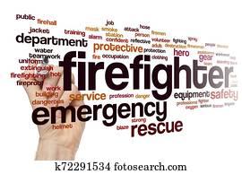 Firefighter word cloud