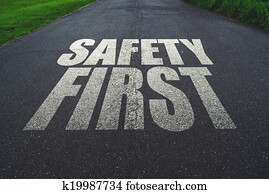Safety first, message on the road