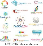Corporate logo icons