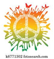 hippie peace symbol