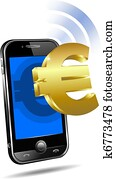 Pay by Mobile Cell Smart Phone Euro