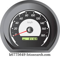 clipart voiture compteur vitesse et tableau bord night vecteur illustration k6775666. Black Bedroom Furniture Sets. Home Design Ideas