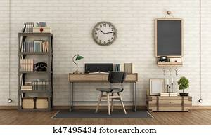Workspace in industrial style