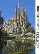 Facade Sagrada Familia Barcelona Spain