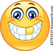 Gold tooth emoticon