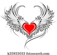 Red Heart of an Angel