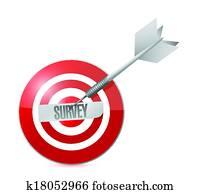 survey target illustration design