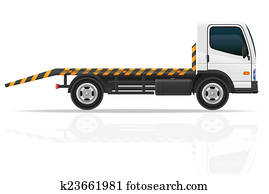 tow truck for transportation faults and emergency cars illustrat