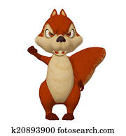 angry cartoon squirrel