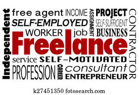 Freelance Contract Worker Employee Independent Consultant Word Collage