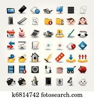 internet, &, website, icons,, web, icons,, heiligenbilder, satz