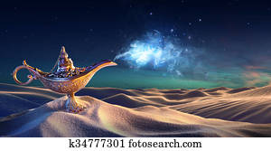 Lamp of Wishes In The Desert