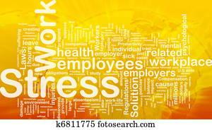 Work stress background concept