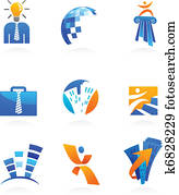 collection of business and consulting icons
