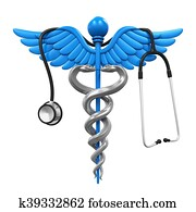 Caduceus Symbol and Stethoscope