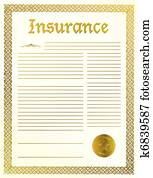 Insurance legal document
