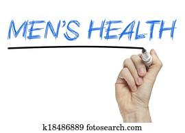 Men's health list concept
