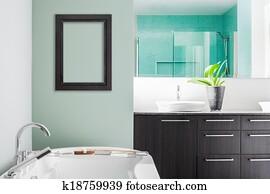Colori Da Usare In Bagno : Archivio fotografico moderno bagno usando morbido verde