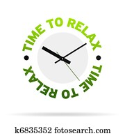 Time to relax clock