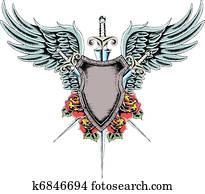 shield wing rose