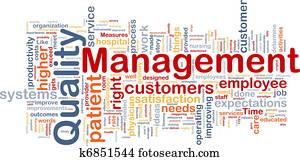 Quality management background concept