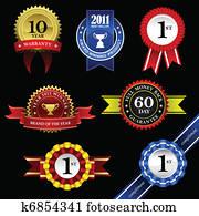 Seal Ribbon Award Badge Trophy