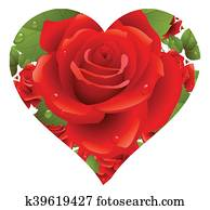 Valentines day greetings illustration