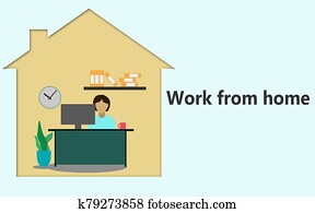 Work from home concept