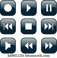 Audio-video control buttons