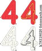 Easy number maze - number 4