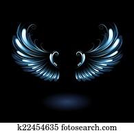 glowing angel wings