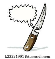 Bloody knife cartoon character Clipart | k21253923 | Fotosearch