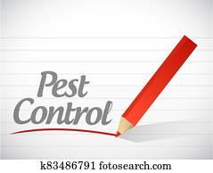 Pest control write message illustration design