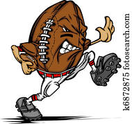 American Football Player Cartoon