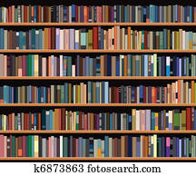 Bookcase Clipart EPS Images 4209 Clip Art Vector