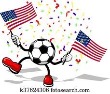 Soccer USA Celebration