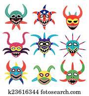 Vejigante mask for Ponce Carnival