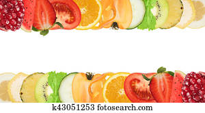 Colourful banner of fruits