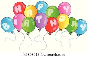 alles gute geburtstag, luftballone