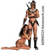 Barbarian Fantasy Couple - 1
